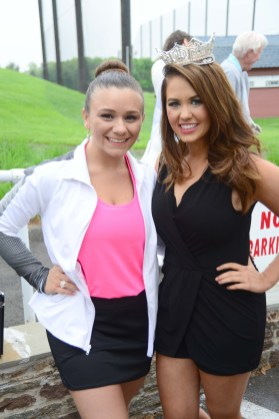 Miss Greater Watertown Taylor Lemme, left, with Miss America Cara Mund.