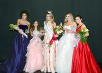 The top five contestants at the Miss Connecticut's Outstanding Teen pageant.