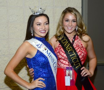 Bridget Oei, Miss Connecticut, with Miss Connecticut's Outstanding Teen Morgan Mancini.
