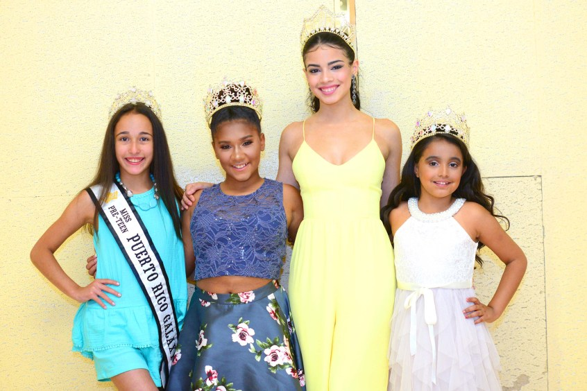 From the left, Miss Pre-Teen Puerto Rico Jaidalynn Alicea; Miss Pre-Teen Connecticut Julissa Lee Rolon; Miss Teen Connecticut Belleza Latina Ashley Berrios; Sophia Vasquez-Orozco,