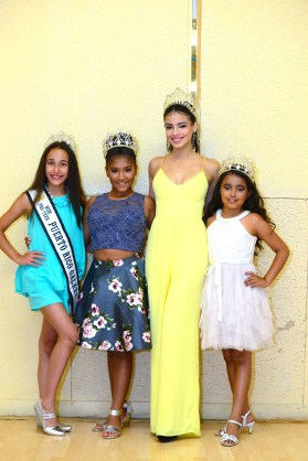 From the left, Miss Pre-Teen Puerto Rico Jaidalynn Alicea; Miss Pre-Teen Connecticut Julissa Lee Rolon; Miss Teen Connecticut Belleza Latina Ashley Berrios; Sophia Vasquez-Orozco.