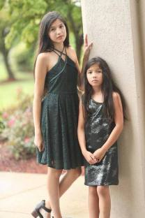 Gigi Ri Fashion also a favorite for red carpet. Photo above of Aislinn and little sister Sinead. Photo by Nathan Blaney. @blaneyphoto