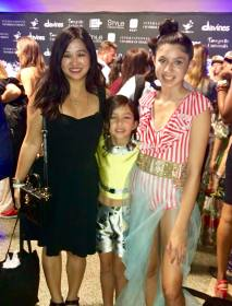Aislinn and Sinead wear Ydamys Simo at New York Fashion Week, followin the show's red carpet. Mom is wearing Dolce & Gabbana