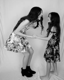Aislinn wears Stella M'Lia and Sinead wears Penelope Tree Girls. Photo by @tanyaroyphotography
