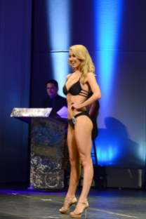 The new Miss Connecticut USA Acacia Courtney competes in swimsuit at the Jan. 5 competition.