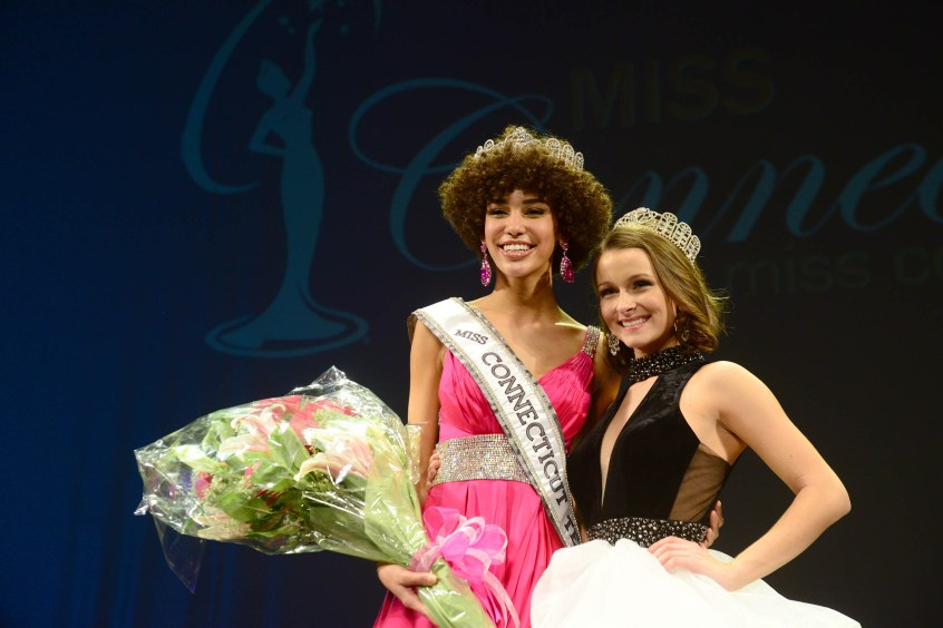 The new Miss Connecticut USA Kaliegh Garris with Elle Sauli.