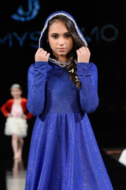 NEW YORK, NY - FEBRUARY 09: A model walks the runway for YDAMYS SIMO At New York Fashion Week Powered By Art Hearts Fashion NYFW at The Angel Orensanz Foundation on February 9, 2019 in New York City. (Photo by Meera Fox/Getty Images)