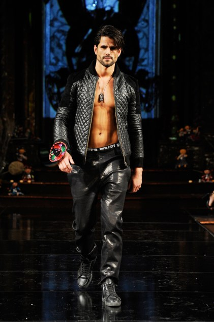 NEW YORK, NY - FEBRUARY 10: Model Yves Usner walks the runway for MISTER TRIPLE X At New York Fashion Week Powered By Art Hearts Fashion NYFW at The Angel Orensanz Foundation on February 10, 2019 in New York City. (Photo by Arun Nevader/Getty Images)