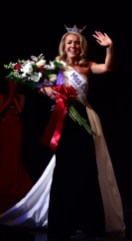 Jillian Duffy, the new Miss Connecticut, waves to the crowd June 8 at the Palace Theater in Waterbury.