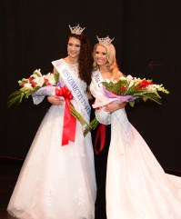 The new Miss Connecticut's Outstanding Teen, Lindiana Frangu, left, and Miss Connecticut Jillian Duffy.