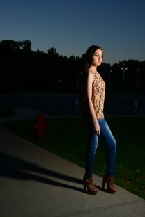 Model Iraima Lopez wears a New Day halter top in cheetah print from Target (Target.com). Jeans are the model's own.