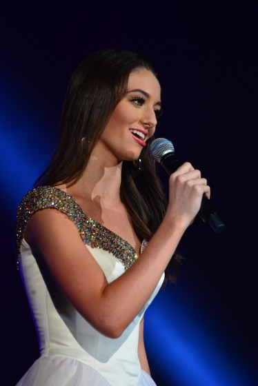 Payton May sings 'Over the Rainbow' at Miss America's Outstanding Teen in Orlando, Fla. on July 27.