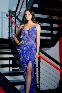 Allie Maisto wears a gown from Amarra.