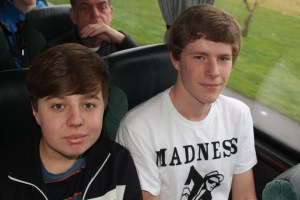Ryan and Josh- and you thought we only had madness on coach 1!