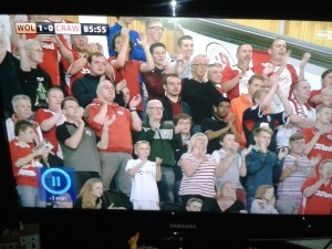 If you're in this picture, we can confirm conclusively that you weren't watching the game on Sky....!
