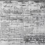 Ellen Bacon death certificate