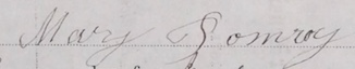 Mary Pomroy's signature