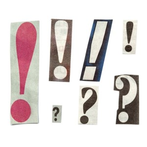 Punctuation cutouts like ransom note