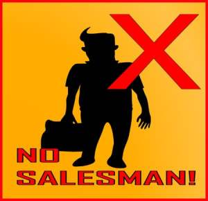 No salesman sign