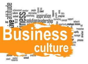 Business culture word cloud