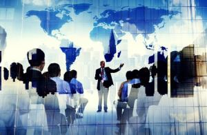 Business people training concept