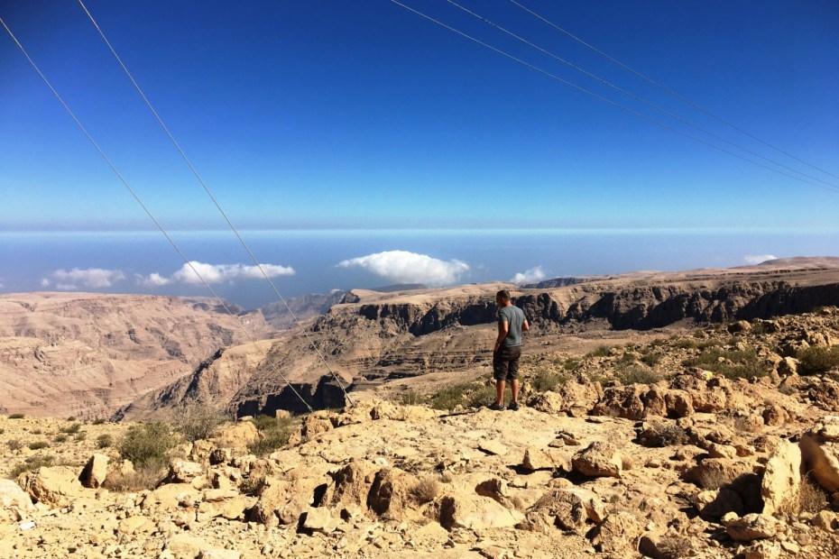 uitzicht over Jabal Bani Jabir