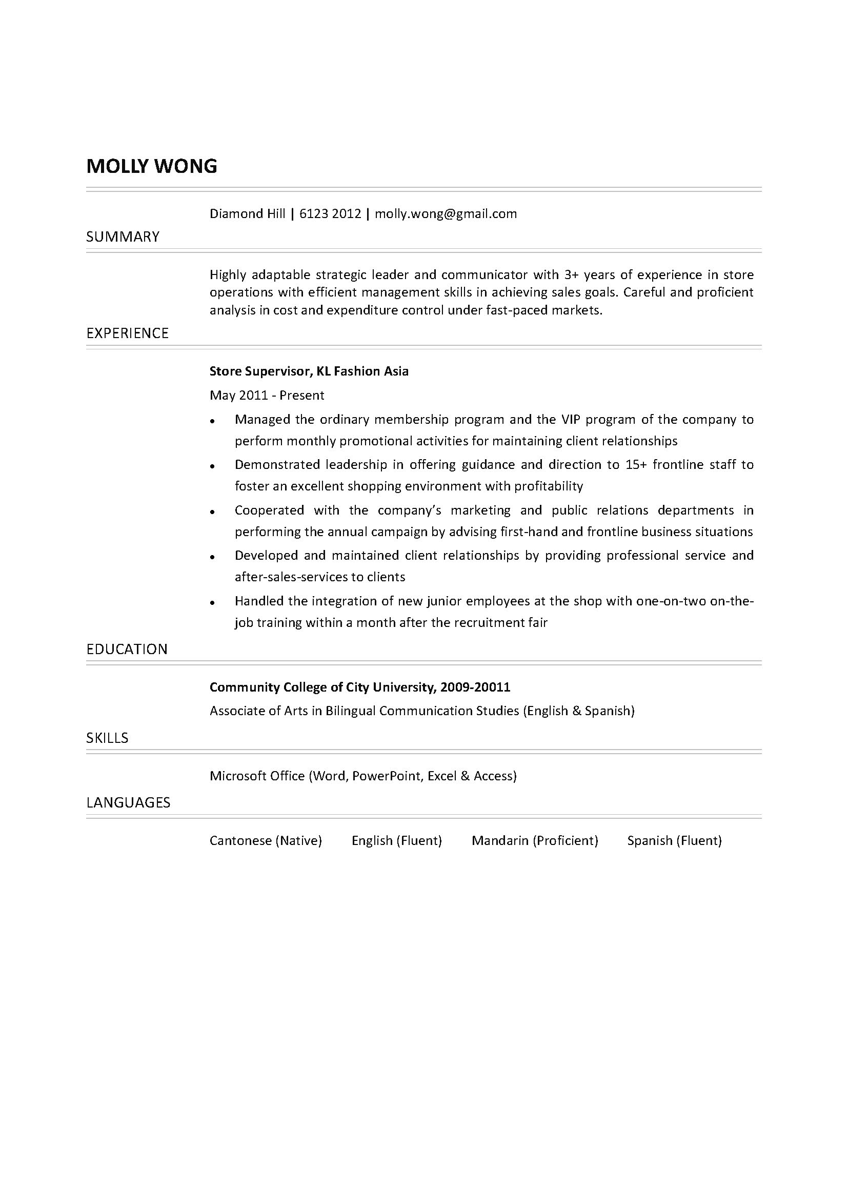 Stockroom Assistant Cover Letter - Cover Letter Resume Ideas ...