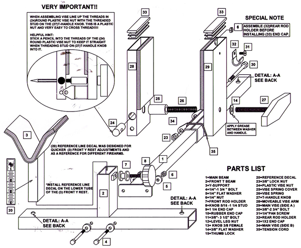 Gun Vise Instructions