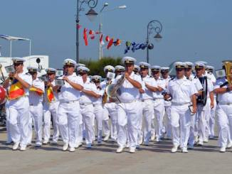 Fanfara militara a Forțelor Navale. FOTO Ovidiu Oprea