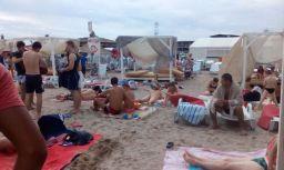 Cum arată plaja Costinești după o săptămână de ploi
