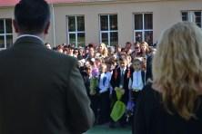 Elevii primiți de primarul Valentin Vrabie. FOTO Adrian Boioglu