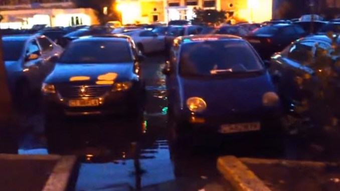 Inundație în Mamaia. FOTO Captură Video