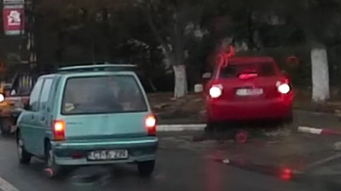 Incident în trafic la Constanța. FOTO Captură video