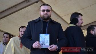 teologul Ionuț Druche a lansat o carte despre Sf. Andrei. FOTO Adrian Boioglu