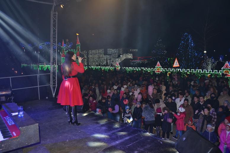 Show scăldat în lumina sărbătorilor. FOTO Adrian Boioglu