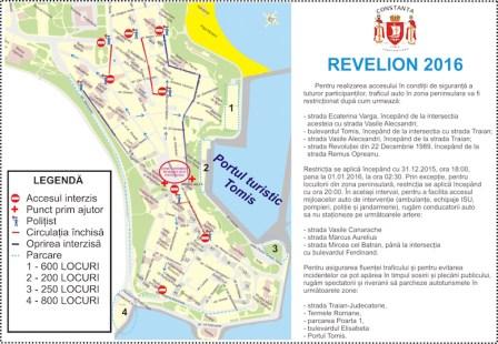 Harta pentru spectacolul de Revelion la Constanța