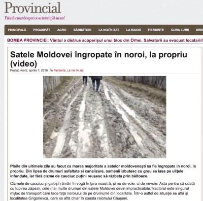 Noroiul din Moldova, transferat la Peștera