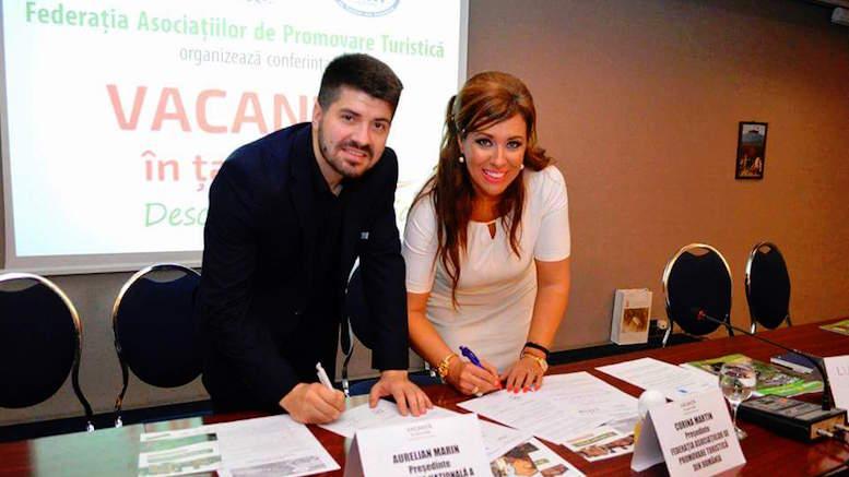 Corina Martin, președinte FAPT și Alexandru Filipschi, președinte FPTM