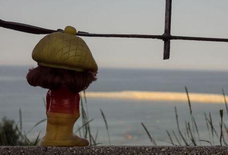 Marcel Ștrengarul la plaja Modern. FOTO Viorel Papu