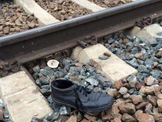 Persoană lovită de tren. FOTO Adrian Boioglu