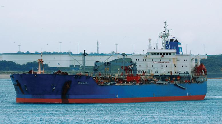 Nava Betatank este cea care a provocat poluarea. FOTO estorilnav