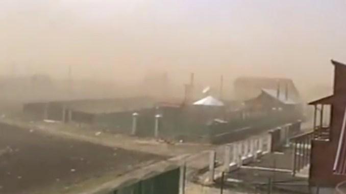 Furtună de praf la Vama Veche. FOTO Captură video