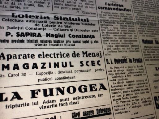 Reclamele din ziarul Farul din 1933