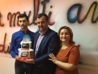 Valentin Vrabie și familia sa. FOTO Adrian Boioglu