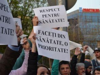 Protest la Spitalul de Urgență Constanța. FOTO Adrian Boioglu