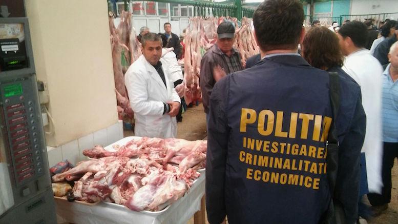 Polițiștii au făcut controale în piața de carne