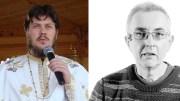preotul Eugen Tănăsescu și solistul trupei Taxi, Dan Teodorescu