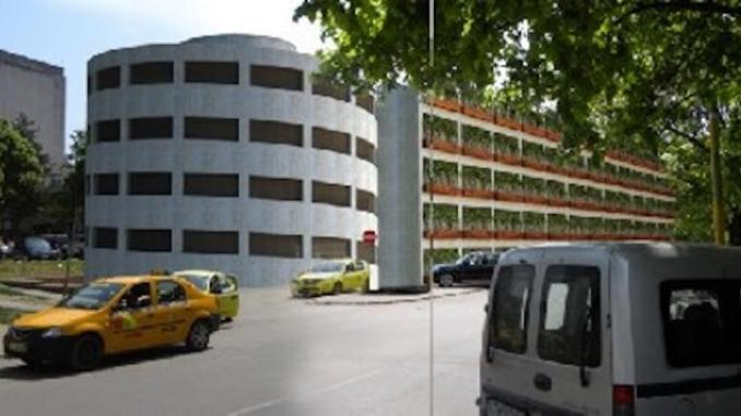 Parcarea supraetajată de la Spitalul Județean Constanța