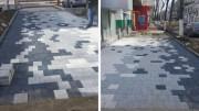 Trotuare pixelate la Constanța. FOTO V.M.