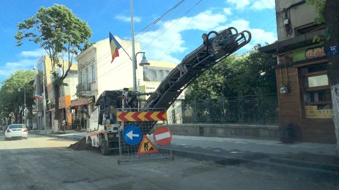 Bulevardul Tomis intră în reabilitare. FOTO Adrian Boioglu